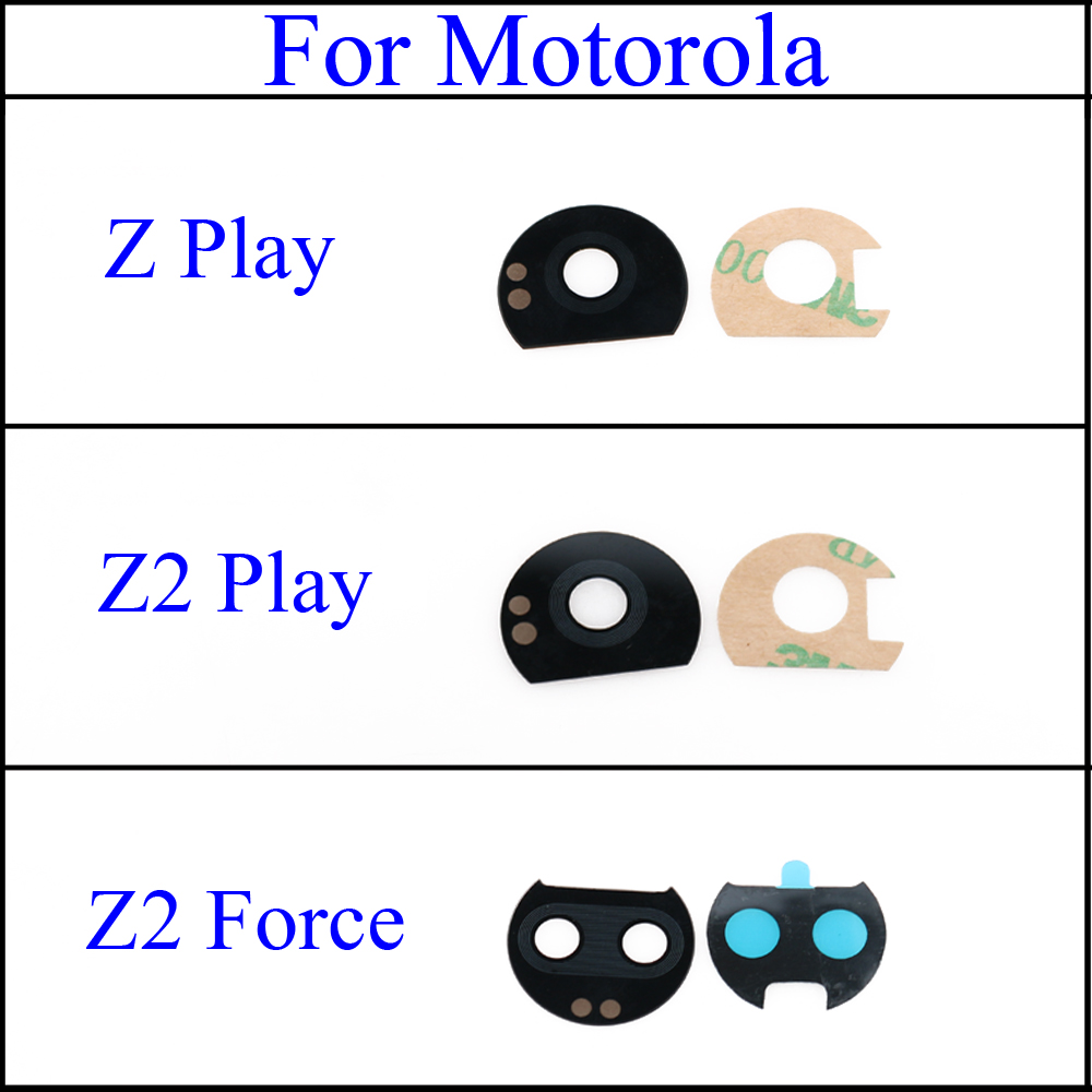 YuXi Rear Camera Glass Lens Cover For Motorola Moto Z Z2 Z PLAY Z2 Force Back Rear Camera Glass Lens + Adhesive Sticker Glue