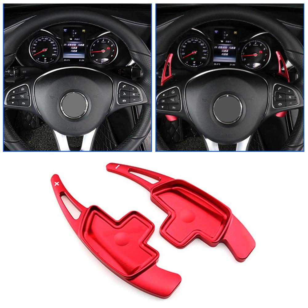 Steering Wheel Paddle Shifter Extension For <font><b>Mercedes</b></font> Benz A <font><b>B</b></font> C E GLE Class W176 W205 W246 C117 W218 Aluminum Shift Paddle Blade image