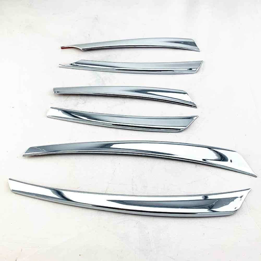 6 個の車のフロントメッシュグリルヘッドバンパーカバートリムストリップ日産ヴァーサ 2014 カースタイリングステッカー Automoble アクセサリー
