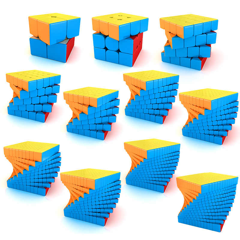 MOYU Meilong 2x2 3x3 4x4 5*5*5 6x6 7x7 8x8 9x9 10x10 11x11 12x12 Megaminx ماجيك مكعبات مكعبات لغز السرعة لعب هدية cubo-magico
