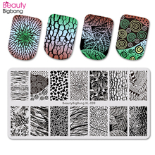 BeautyBigBang 6*12cm Stamping For Nails Retro Flower Leaf Theme Nail Art Template Nail Stamping Plates BBB XL-039