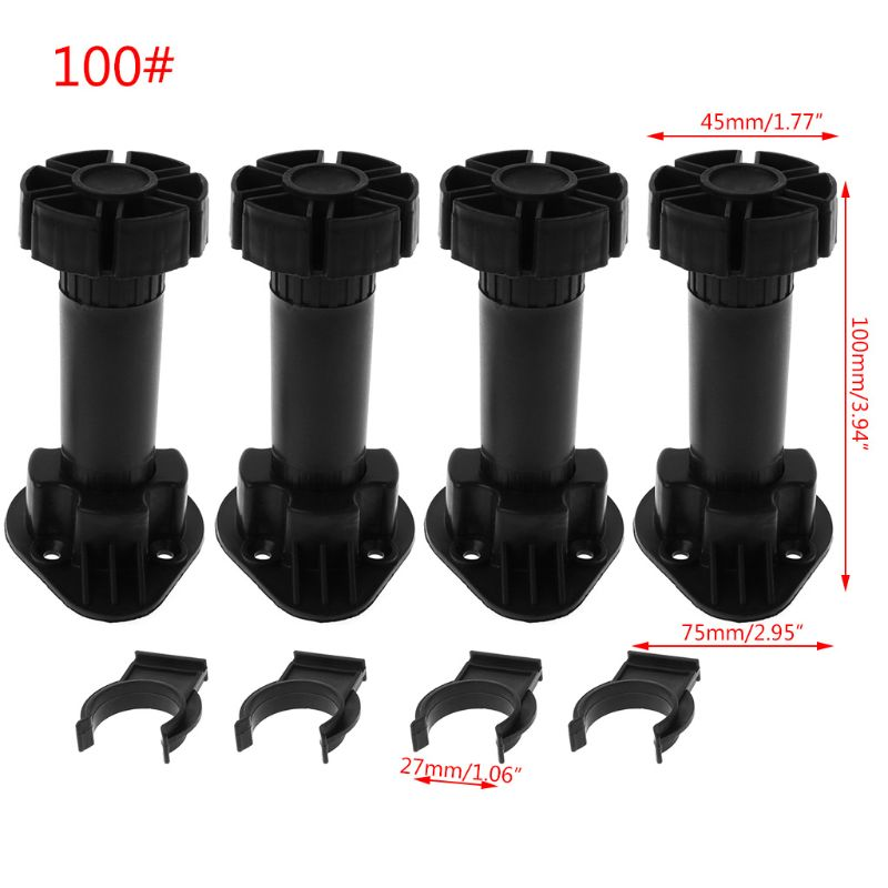 2020 New 4pcs Adjustable Height Cupboard Foot Cabinet Leg For Kitchen Bathroom