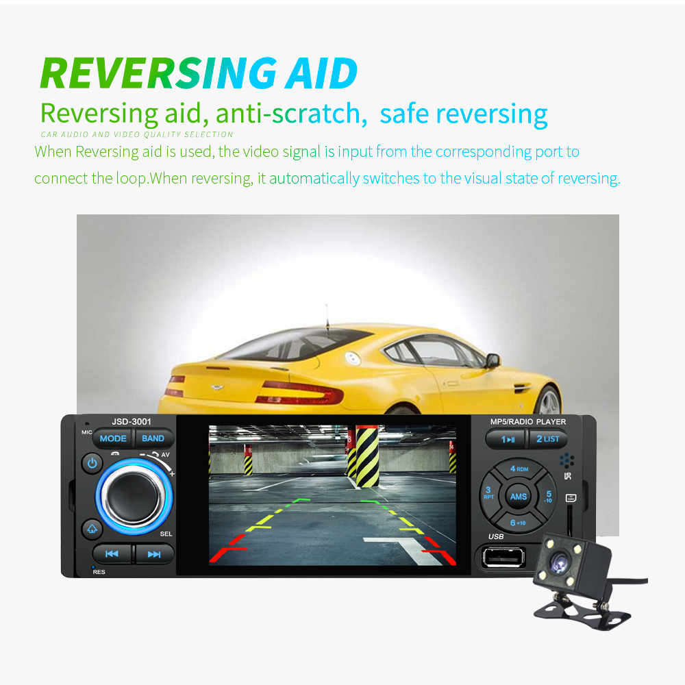 Image 5 - LTBFM Autoradio 1 Din Car Radio JSD 3001 4.1 MP5 Car Player Touch Screen Car Stereo Bluetooth 1Din Auto Radio Camera Mirror Link-in Car Radios from Automobiles & Motorcycles