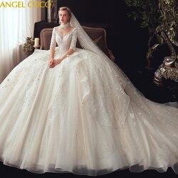 Schwangerschaft Mutterschaft Kleid Appliques perlen Vintage Weiß Prinzessin Hochzeit Kleid Vestidos de Noivas Braut Ball Kleider Braut Kleid