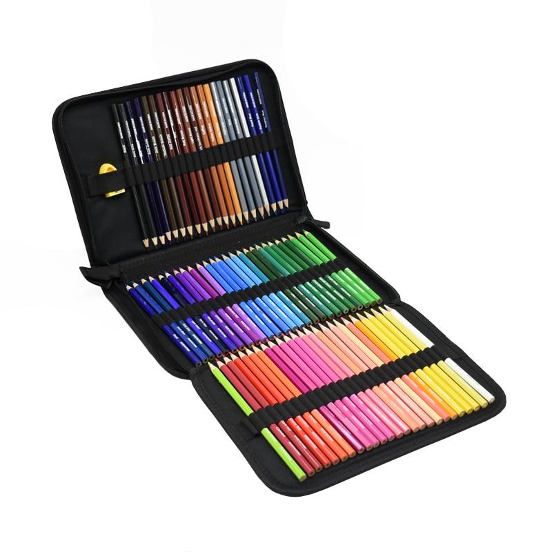1 Set Portable box Colored Pencils Trendy Pastel Colored-Pencils oil Color Pencil Lápis de cor 72 Colors Painting Supplies