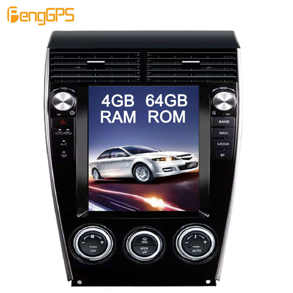 "10.4"" IPS Screen Android 9.0 Car <font><b>GPS</b></font> <font><b>Navigation</b></font> DVD Player for <font><b>Mazda</b></font> <font><b>6</b></font> 2002-2015 Tesl Style 4G+64G Mirror Link HD Video Headunit image"