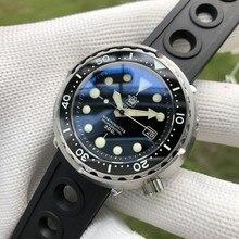 Steeldive1975 homem totalmente automático relógios mecânicos sbbn015 safira espelho 300 m mergulho luminoso masculino relógio à prova dwaterproof água latas