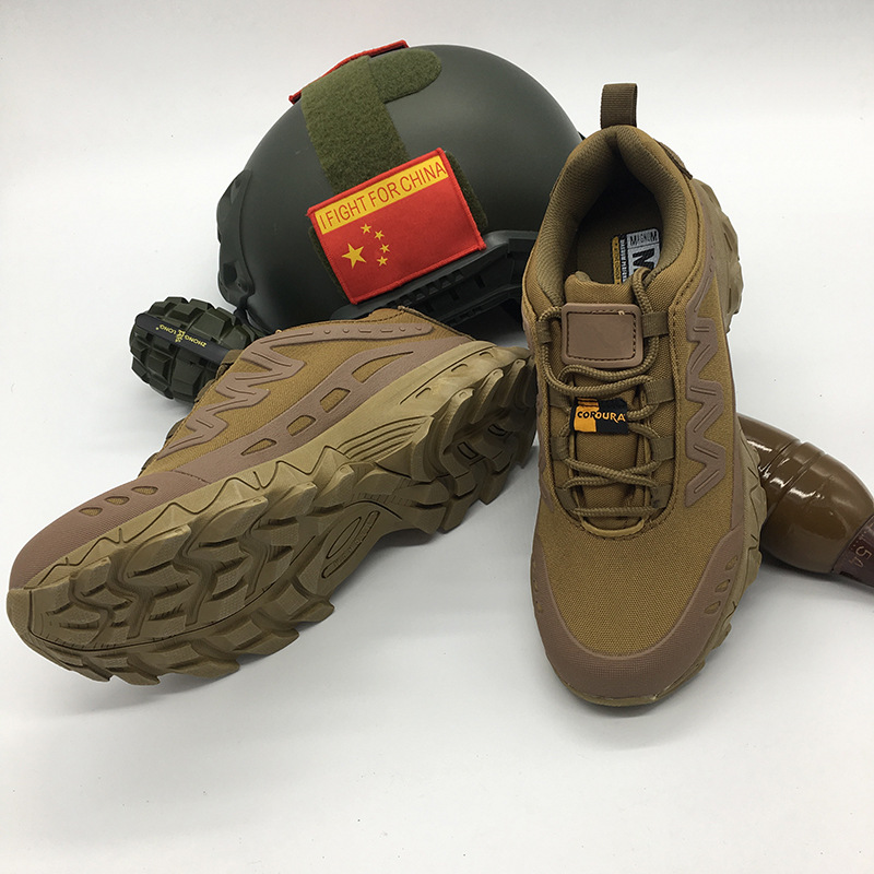 Summer Combat Boots Running Shoes MG Desert Boots 07 Combat Boots Lightweight Low Top Tactical Shoes Men's Special Forces Tactic