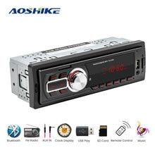 AOSHIKE voiture Bluetooth lecteur MP3 Radio lecteur stéréo Bluetooth téléphone 12V récepteur Audio AUX-IN MP3 FM/USB/1 Din/commande centrale