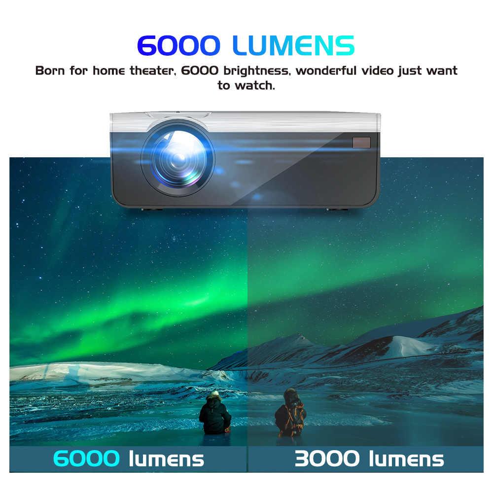 UNIC-Proyector G08 720P para cine en casa, Proyector Dolby Sound con óptica LCD de 6000 lúmenes, 4K, 1080P, Full HD, HDMI, wi-fi, Android 10