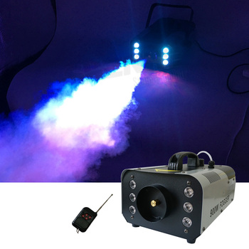 Sharelife 900W RGB Colorful LED Fog Smoke Machine Remote & Line Controller for Stage Light Home Party Show Wedding Effect
