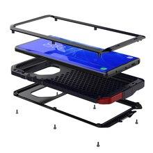 Pieno di Lusso di Protezione Armatura Heavy Duty cassa del telefono di alluminio del metallo, per la nota di Samsung 9 8 5 4 3 galaxy S 5 6 7 7e 8 9 10 e PIÙ