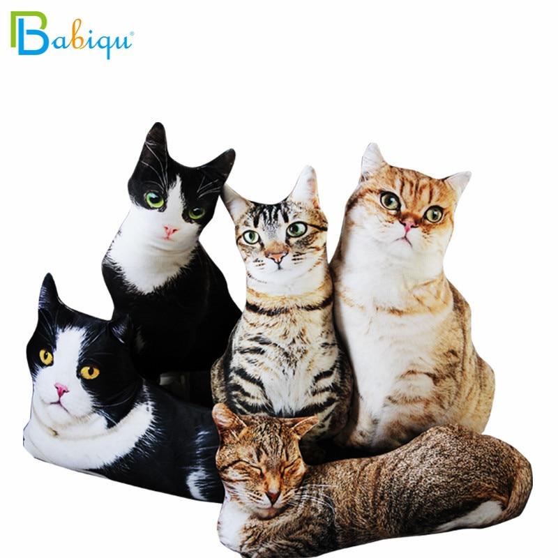 50cm Cute Lifelike 3D Cat Plush Toys Stuffed Soft Animal Doll Simulation Sleep Pillow Sofa Cushion Cartoon Doll Home Decor Gift|Stuffed & Plush Animals|   - AliExpress
