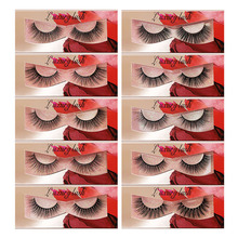 New 3D Mink Lashes Set 10 Pairs With Tweezers Eyelashes Natural Long Popular False Sexy Eyelash Extension Makeup