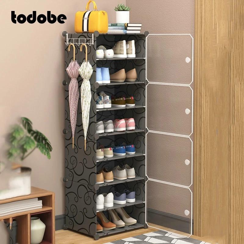 bricolage armoire a chaussures antipoussiere chaussures modulaires bottes support organisateur creatif moderne maison dortoir rangement placard