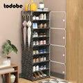 DIY шкаф для обуви пылезащитный модульный держатель для обуви Органайзер креативный современный шкаф для дома и общежития для хранения обув...