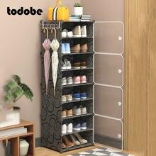 Armário de sapato diy sapatos modulares à prova de poeira titular organizador criativo moderno dormitório casa armazenamento armário sapato rack fácil de limpar