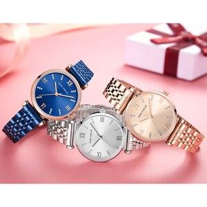 Image 5 - Mini Focus Vrouwen Horloges Top Merk Luxe Mode Dames Horloge 30M Waterdicht Rose Goud Rvs Reloj Mujer Montre femme