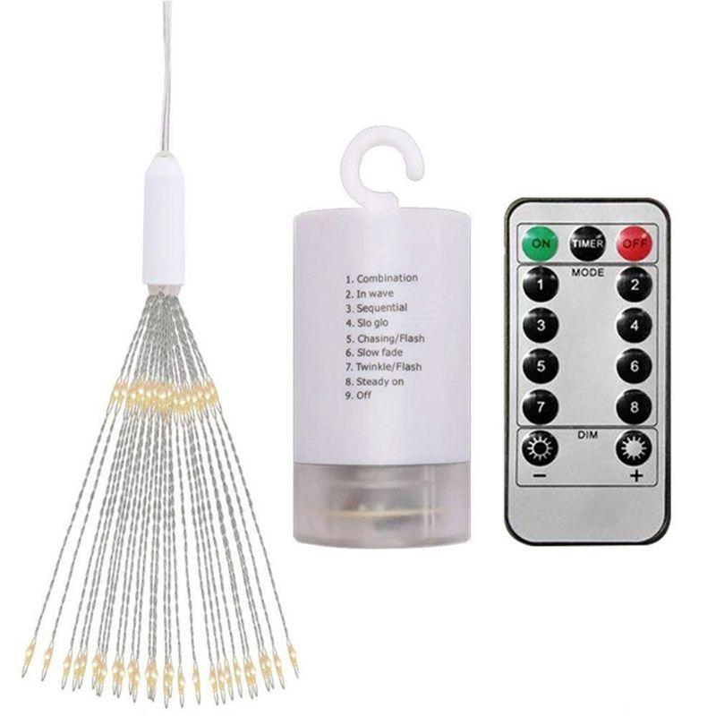 200 LEDs Firework Light Foldable Decorative String Lamp Remote Control 8 Modes