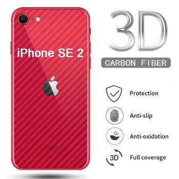 Protector de pantalla trasera 3D para IPhone 11 Pro Max X XS XR SE 2 2020 6 6s 7 8 Plus, cubierta completa de película protectora de fibra de carbono