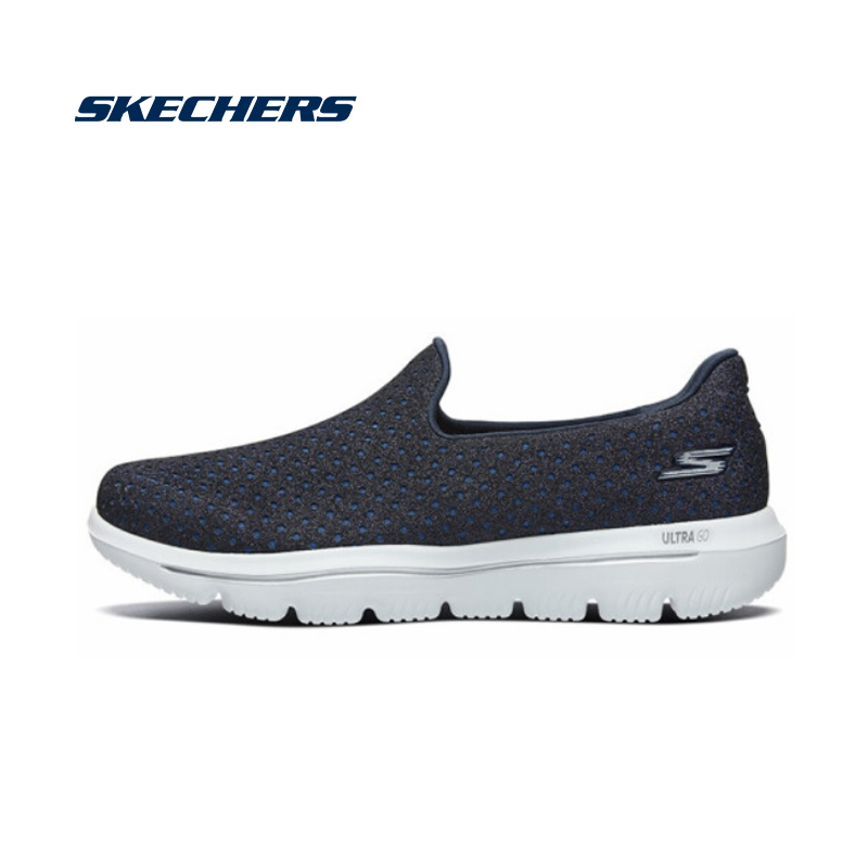 <font><b>Skechers</b></font> <font><b>Women</b></font> GOWALK Casual Shoes Lightweight Mesh Loafers Woman Breathable Brand Luxury Walking Shoes zapatos hombre 15757-NVW image
