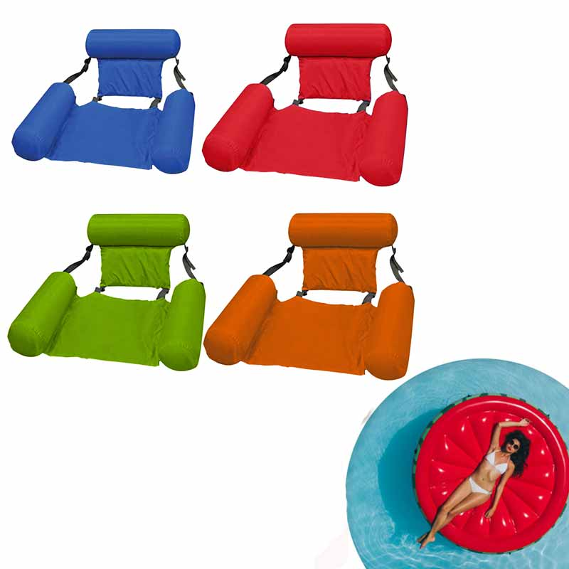 Pool Water Sports Hammock Floating Air Mattresses Bed Easy Carrying Lounger Chair Inflatable Swimming Durable Parts