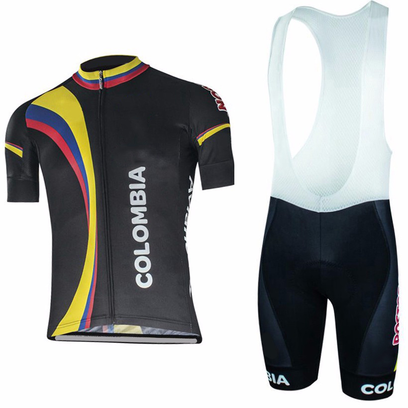 Summer 2019 Colombia Cycling Jersey 19D Set MTB Uniform Bicycle Clothing Quick Dry Bike Clothes Mens Short Maillot Culotte Suit