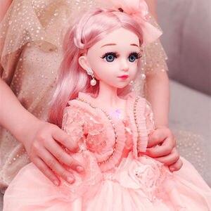 60 см, модные куклы для девочек, большие оригинальные куклы ручной работы 1/3, полный комплект, 15 шарнирных кукол, игрушки для девочек, для дете...