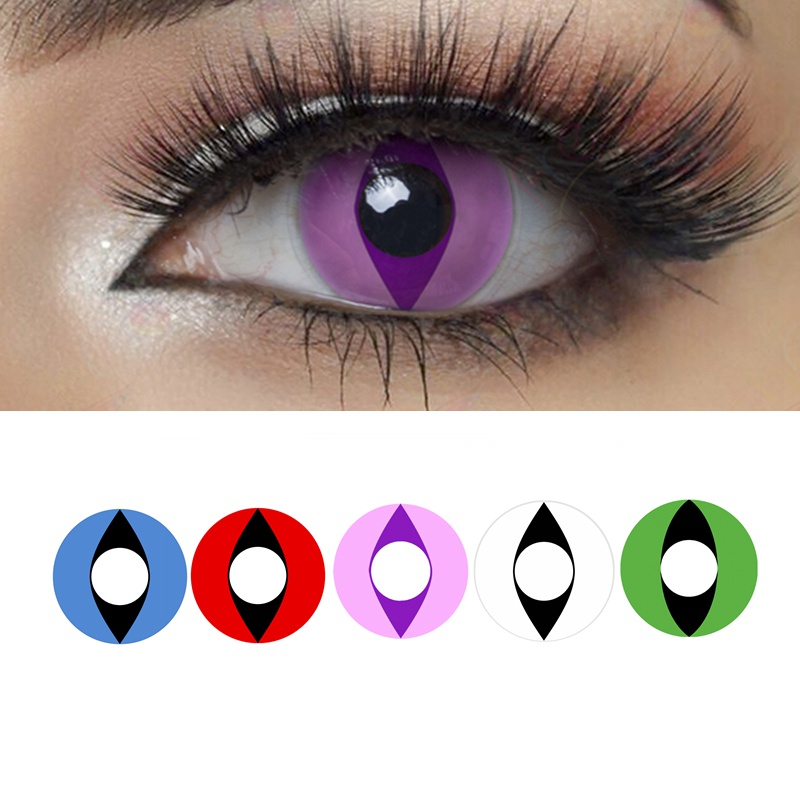 yeux-de-chat-cosplay-lentilles-de-contact-colorees-contacts-annuels-d'halloween