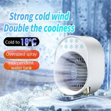 Mini Air Conditioner Fan USB Portable Air Conditioner Multifunctional Humidifier for Office Desktop Air Cooler Refrigeration Fan