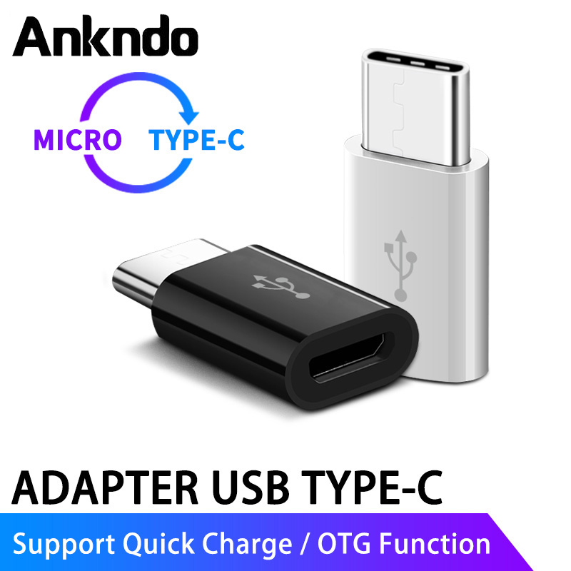 ANKNDO Micro USB To Type-c OTG Adapter USB3.1 Type C Converter  USB Device Connector For Xiaomi Huawei Samsung Fast Charge Data