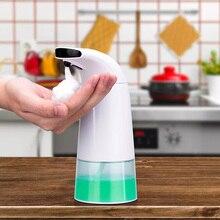 250Ml Infrarood Sensing Hand Zeepdispenser Automatische Draagbare Schuim Vloeibare Schuim Zeepdispenser Voor Badkamer Keuken Accessoires