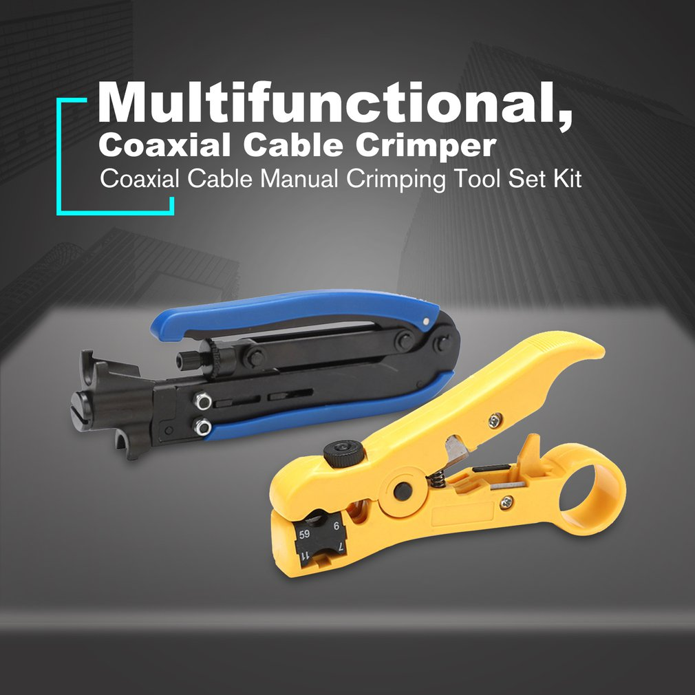 Portable Useful Coax Coaxial Cable Wire Cutter Stripping Tool Adjustable