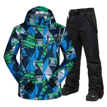 Men Ski Suit Brands Windproof Waterproof Warm Outdoor Sports Ski Jacket And Snow Pants Sets Winter Skiing And Snowboarding Suits cheap MUTUSNOW NYLON Polyester spandex Microfiber COTTON Hooded Fits larger than usual Please check this store s sizing info