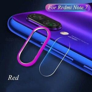 Image 3 - Für Xiaomi Redmi Hinweis 7 Kamera Objektiv Protector Gehärtetem Glas Kamera Film Kamera Metall Ring Fall Abdeckung Stoßstange Redmi Hinweis 7 8 Pro