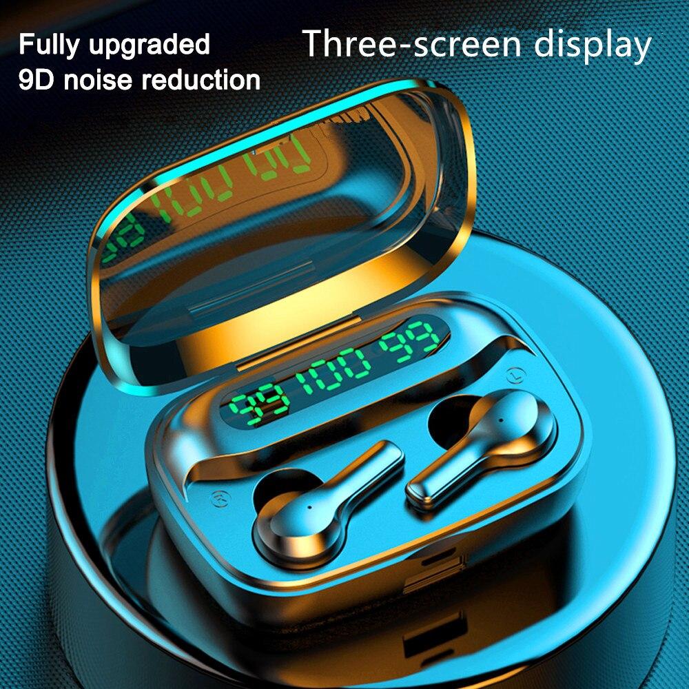 2000mah Bluetooth Earphone V5 0 TWS Wireless Earphones  LED with Microphone Earphones Waterproof Noise Cancel Headset Earbuds