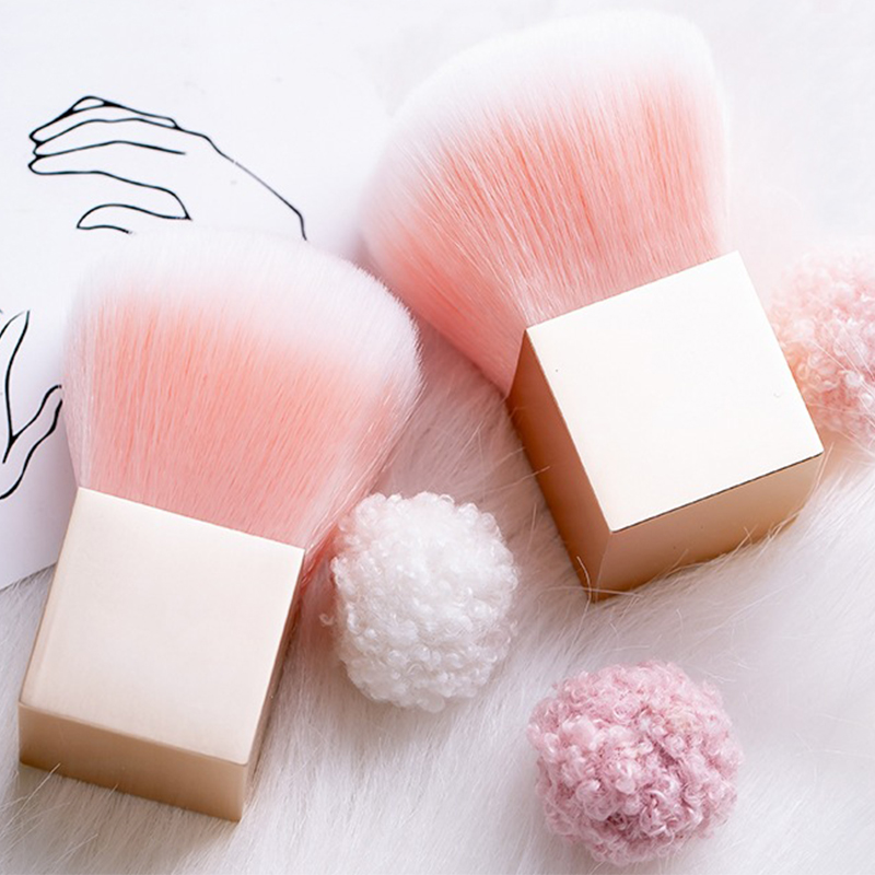 1Pc Portable Mini Cube Nail Art Cleaning Brush Soft Dust Remover Acrylic UV Gel Powder Manicure Care Cleaner DIY Manicure Tools