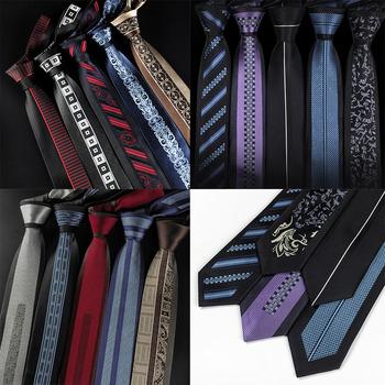 Kreatywny krawat 6cm unikatowe męskie wypoczynek Groom ślubne krawaty krawat prezenty dla mężczyzn święto festiwal bankiet męskie akcesoria tanie i dobre opinie EASY H Nowość SILK Poliester Dla dorosłych Szyi krawat Jeden rozmiar W paski