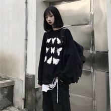 Harajuku Butterfely Tops Women Cartoon Long Sleeve T Shirts Streetwear Summer Japan Loose Casual Cute High Street Tshirt Women