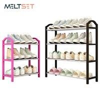 4 camada de metal sapato rack fácil montado sapatos suporte organizador piso-pé sapato armário de armazenamento para porta entrada quarto prateleira