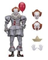 horror clown action figure Stephen King's It pennywise PVC action figure movable combination set movie figure 18cm