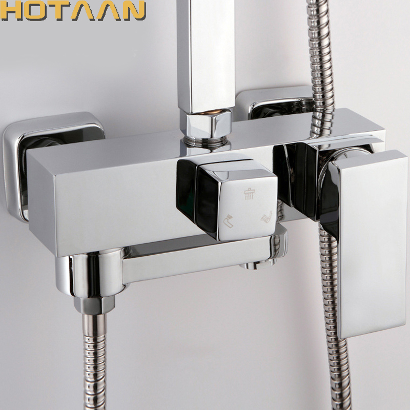 Free Shipping Bathroom Mixer Bath Tub Copper Mixing Control Valve Wall Mounted Shower Faucet Concealed Faucet YT-5356