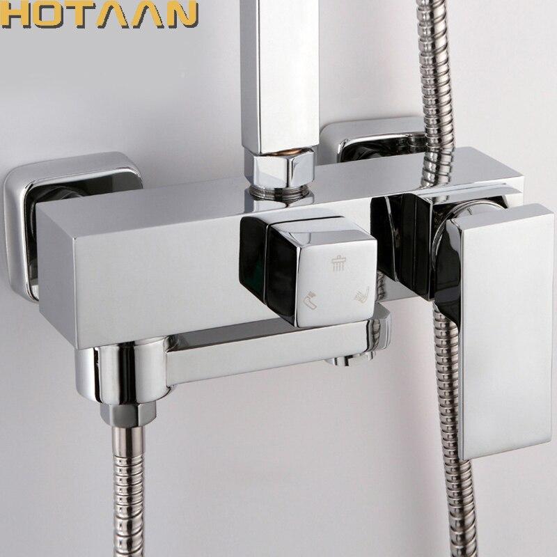 Spedizione gratuita bagno miscelatore vasca da bagno rame miscelatore valvola di controllo a parete doccia rubinetto nascosto rubinetto