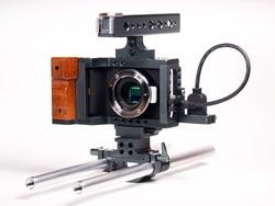 BMPCC Cage Blackmagic Pocket Cinema Camera Armor Cage Rig w/ HDMI Cable