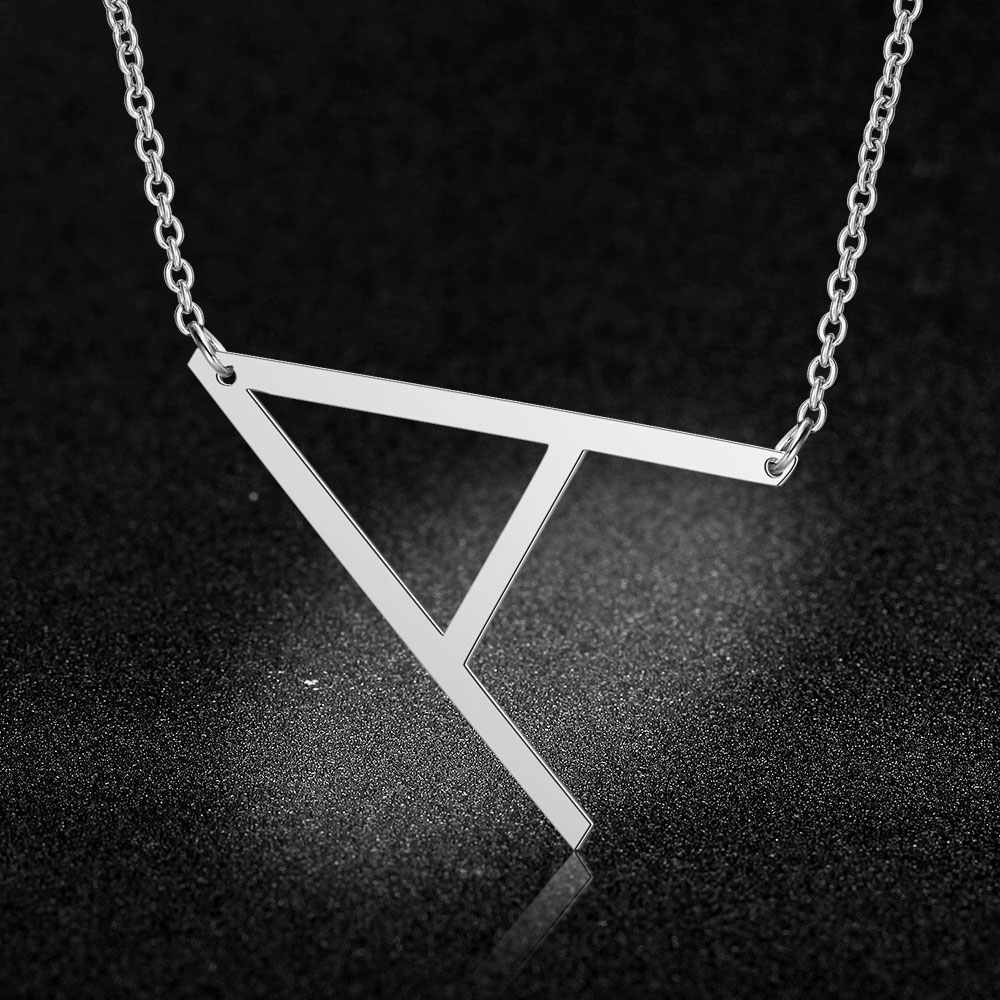 100% Stainless Steel Initial Name Pendant Necklace for Women 316L Stainless Steel Alphabet Pendants Neckleces 2019 New Hot