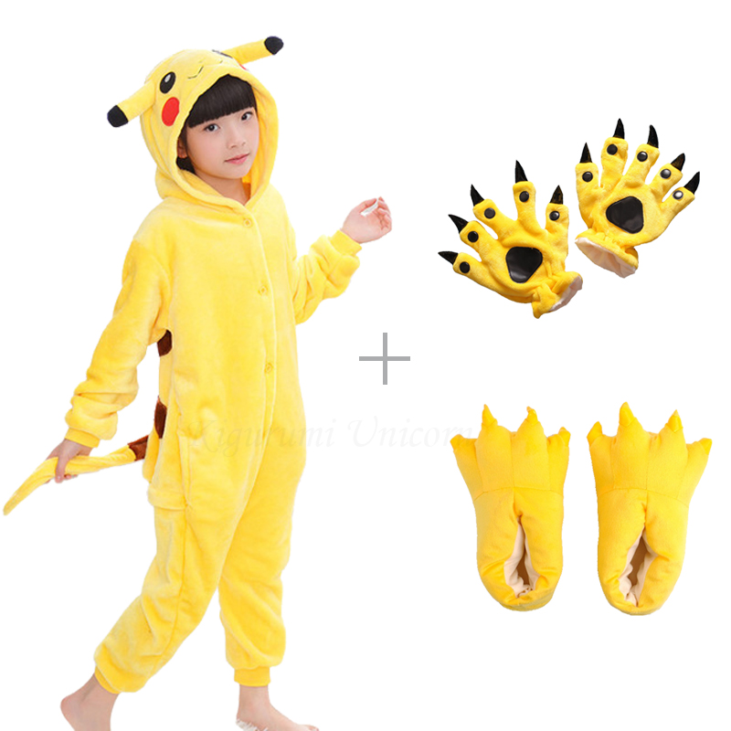 Kigurumi Unicorn Pajama Sleepwear Suit Pikachu Couple Animal Onesie Women Adult Boys title=