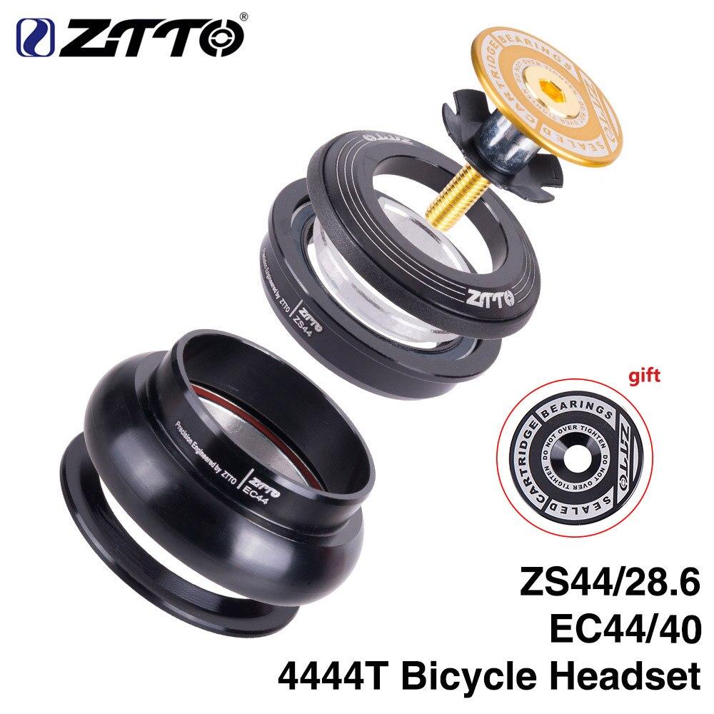 """Ztto 4444t mtb bicicleta de estrada da bicicleta fone de ouvido 44mm zs44 cnc 1 1/8 """" 1 1/2"""" 1.5 tubo cônico garfo interno sem rosca ec44 fone de ouvido Fone de ouvido p/ bicicleta    -"""