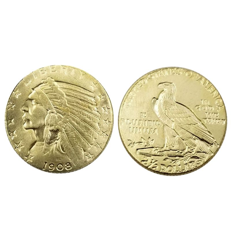 Gold Plated United States Liberty Commemorative Coin Souvenir Challenge Collectible Coins Collection Art Craft