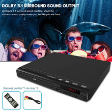 With AV Cable Home USB Compatible DVD Player Media HD 1080P All Region Free Movie Music Video Audio For TV 5.1 Surround Sound