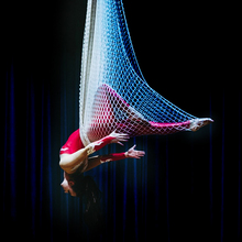 New Fishing Net Aerial Yoga Hammock Set Swing Hammock Yoga Rope Colorful Gradient Color Optional